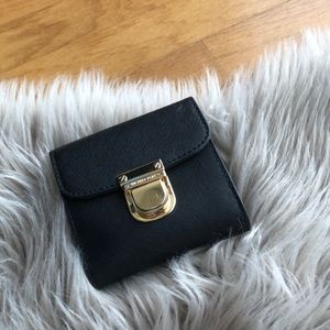 Michael Kors Black Wallet with Gold hardware
